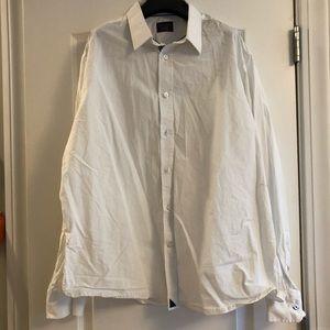Untuckit button down white shirt